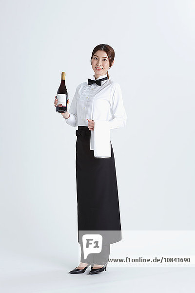 Attractive Japanese sommelier