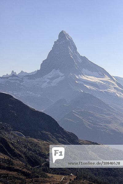 Matterhorn summer view  Zermatt  Canton of Valais  Pennine Alps  Swiss Alps  Switzerland  Europe