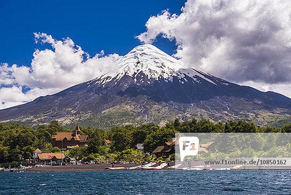 Osorno Volcano seen from Todos Los Santos Lake  Vicente Perez Rosales National Park  Chilean Lake District  Chile  South America