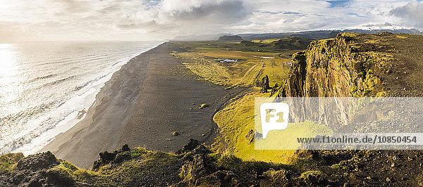 Sunset view from Dyrholaey Peninsula  near Vik  South Iceland (Sudurland)  Iceland  Polar Regions
