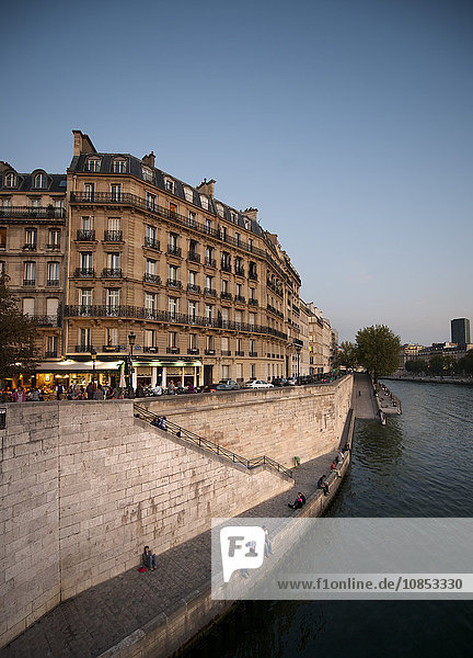On the banks of the River Seine  Paris  France  Europe