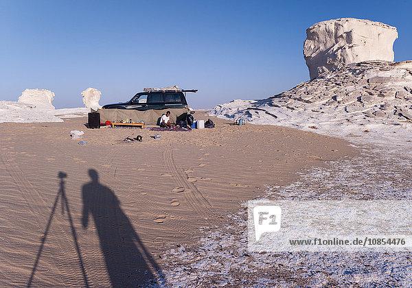 Touristen in der Weißen Wüste,  Ägypten