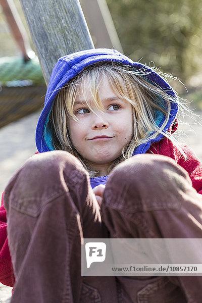 Girl with hood  Kiel  Germany  Europe