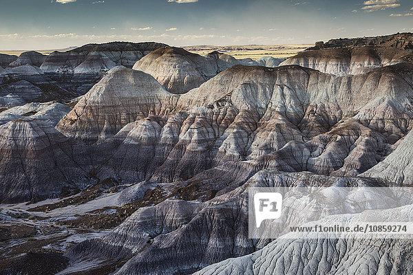 Blue Mesa Petrified Forest National Park  Arizona Vereinigte Staaten von Amerika