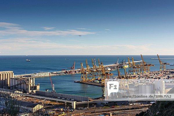 Ansicht des Handelshafens,  Barcelona,  Katalonien,  Spanien