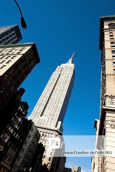 Empire State Building  Manhattan  New York City  USA