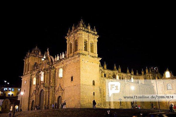 Kathedrale Santo Domingo auf der Plaza de Armas  Cusco  Peru