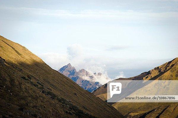 Blick auf die Schneekappe bei Qelqanqa  Peru