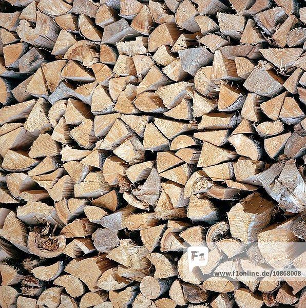 Stacked firewood  Ischgl  Austrian Tirol  Austria