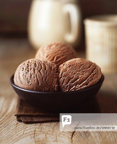 Bio-Schokoladen-Luxus-Eiscreme