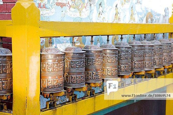 Gebetsmühlen  Boudhanath  Kathmandu  Nepal