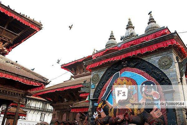 Der Schwarze Bhairav  Durbar Square  Kathmandu  Nepal