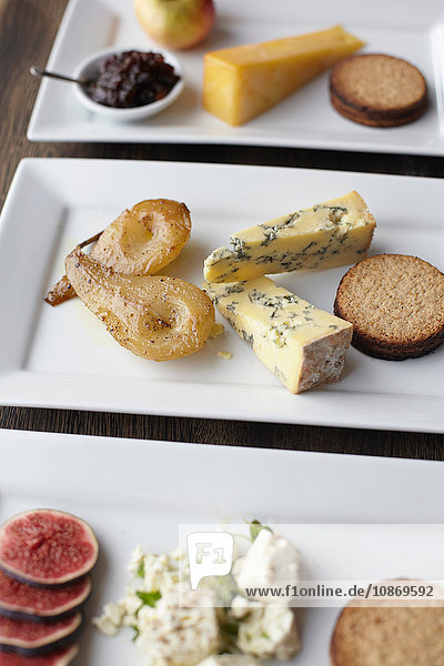 Auswahl von Käsebrettern