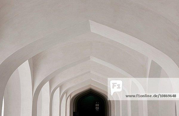 Korridor in Amer Fort  Rajasthan  Indien