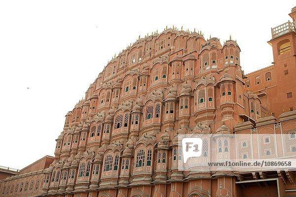 Front des Hawa Mahal ''Palast der Winde'' in Jaipur  Rajasthan  Indien