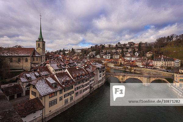 Fluss Aare  Stadt Bern  Schweiz