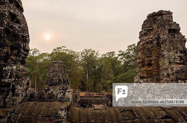 Ruins of Bayon Temple  Angkor  Siem Reap  Cambodia  Indochina  Asia
