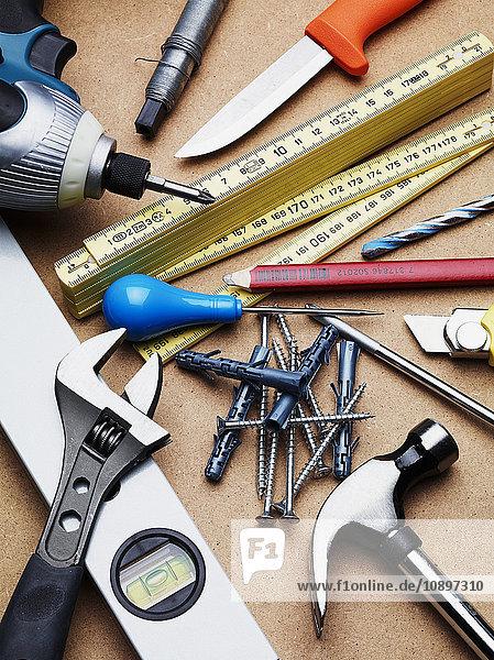 Studioaufnahme von Handwerkzeugen