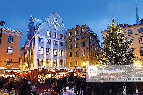 Schweden  Stockholm  Gamla Stan  Stortorget  Weihnachtsmarkt