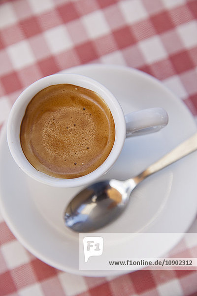 Italien  Sizilien  Erhöhte Ansicht von Espresso