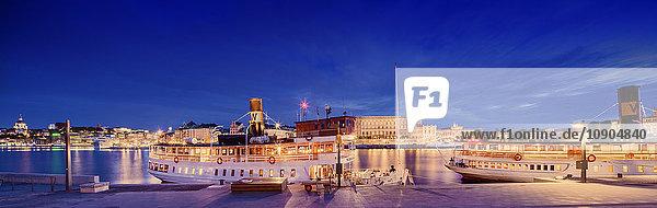 Schweden  Stockholm  Blick auf Stadt und Hafen