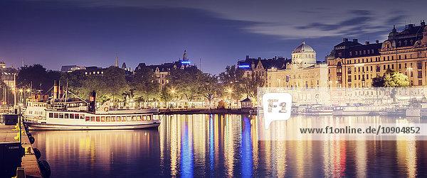 Schweden  Stockholm  Blick auf Hafen und Stadt