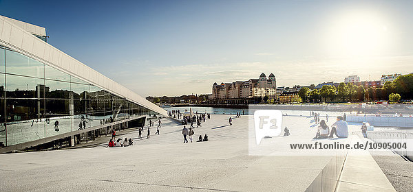 Norwegen  Oslo  Bjorvika  Opernhaus