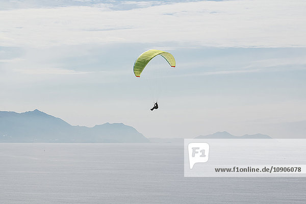 Spain  Basque Country  Getxo  Paragliding over the Cantabrian Sea