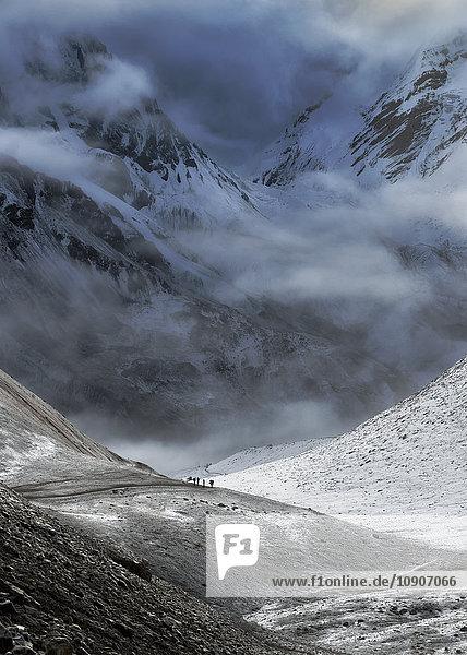 Nepal  Annapurna  Thorong La  Wanderweg