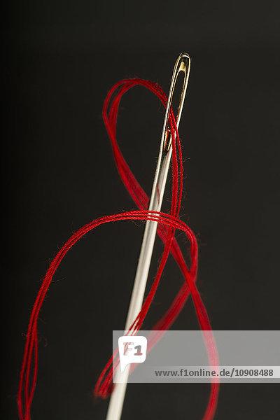 Roter Faden durch das Nadelöhr gezogen