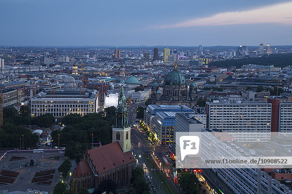 Germany  Berlin  cityscape in the evening