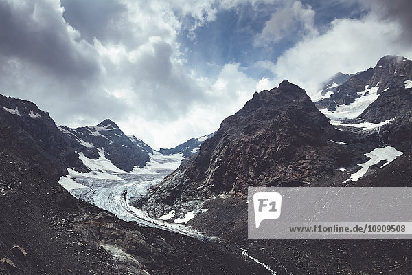 Italien  Lombardei  Gletscher bei Chiareggio in Valmalenco