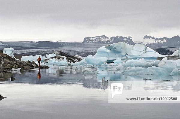 Island  Jokulsarlon  Gletschereis am See
