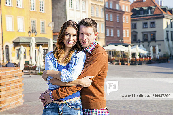 Portrait of happy mid adult couple in Warsaw