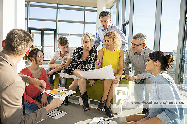 Team of architects in business meeting