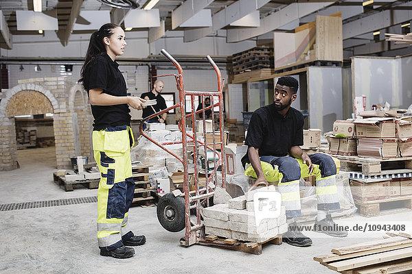 Schreinerinnen und Schreiner  die auf der Baustelle arbeiten