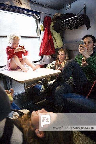 People on train  Sweden.