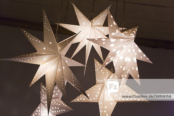 White illuminated stars  India.