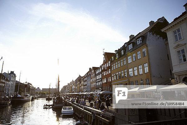 The canal in Nyhavn  Copenhagen  Denmark.