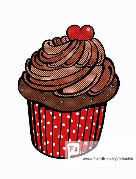 Nahaufnahme eines Schokoladen-Cupcakes