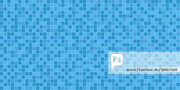 Tile in three shades of blue