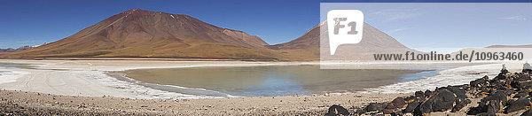 'Panoramic image of Laguna Verde in Bolivia's Altiplano region; Sur Lipez  Bolivia'