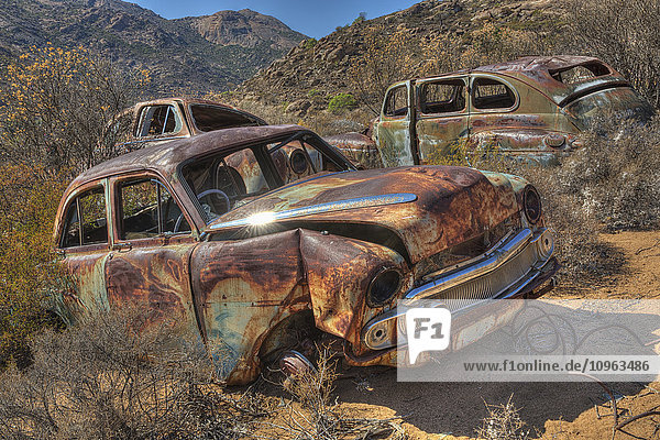 'Abandoned cars in the desert; South Africa'