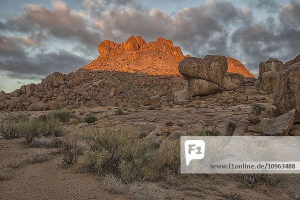 'Sunrise light hitting the rocks in Richtersveld National Park; South Africa'