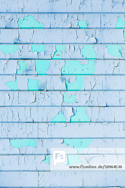 'Detail view of exterior wall paint chipping  Barrow  North Slope  Arctic Alaska  USA  Winter'