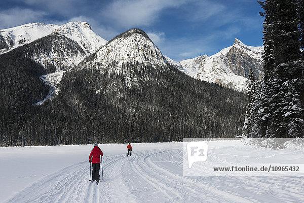'Cross country skiing in Yoho National Park; Field  British Columbia  Canada'