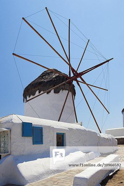 'Traditional windmill; Chora  Mykonos  Greece'