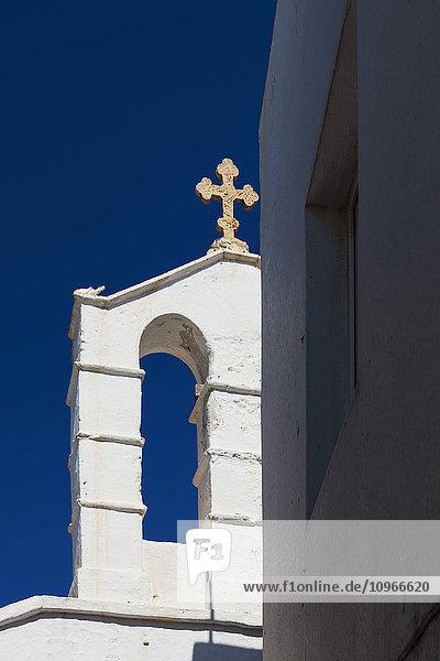 Detail Details Ausschnitt Ausschnitte Himmel Kirche blau Griechenland tief griechisch Mykonos