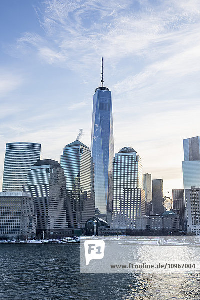 'Manhattan Skyline  with the new world trade centre; New York City  New York  United States of America'