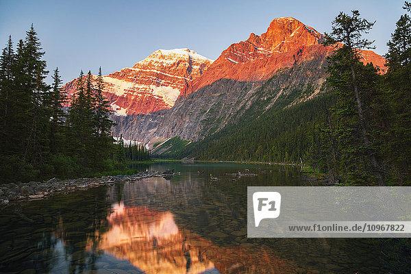 'Mount Edith Cavelle in Jasper National Park; Alberta  Canada' 'Mount Edith Cavelle in Jasper National Park; Alberta, Canada'
